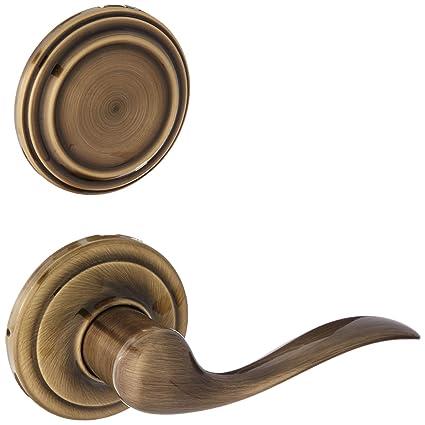 Kwikset 968TNLLH-3 Left Hand Tustin Interior Dummy Handleset Trim Bright Brass Finish