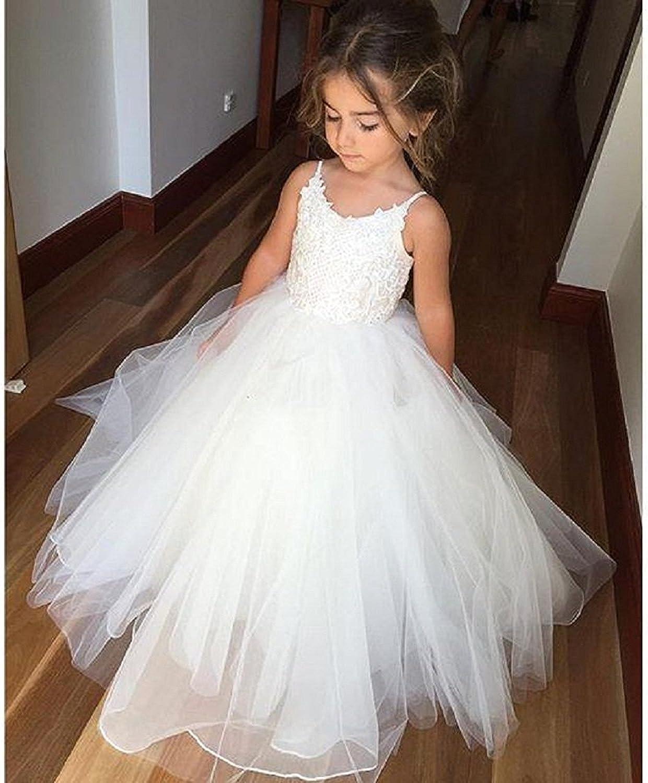 Amazon.com: Plwedding Vestido de niña de las flores con ...