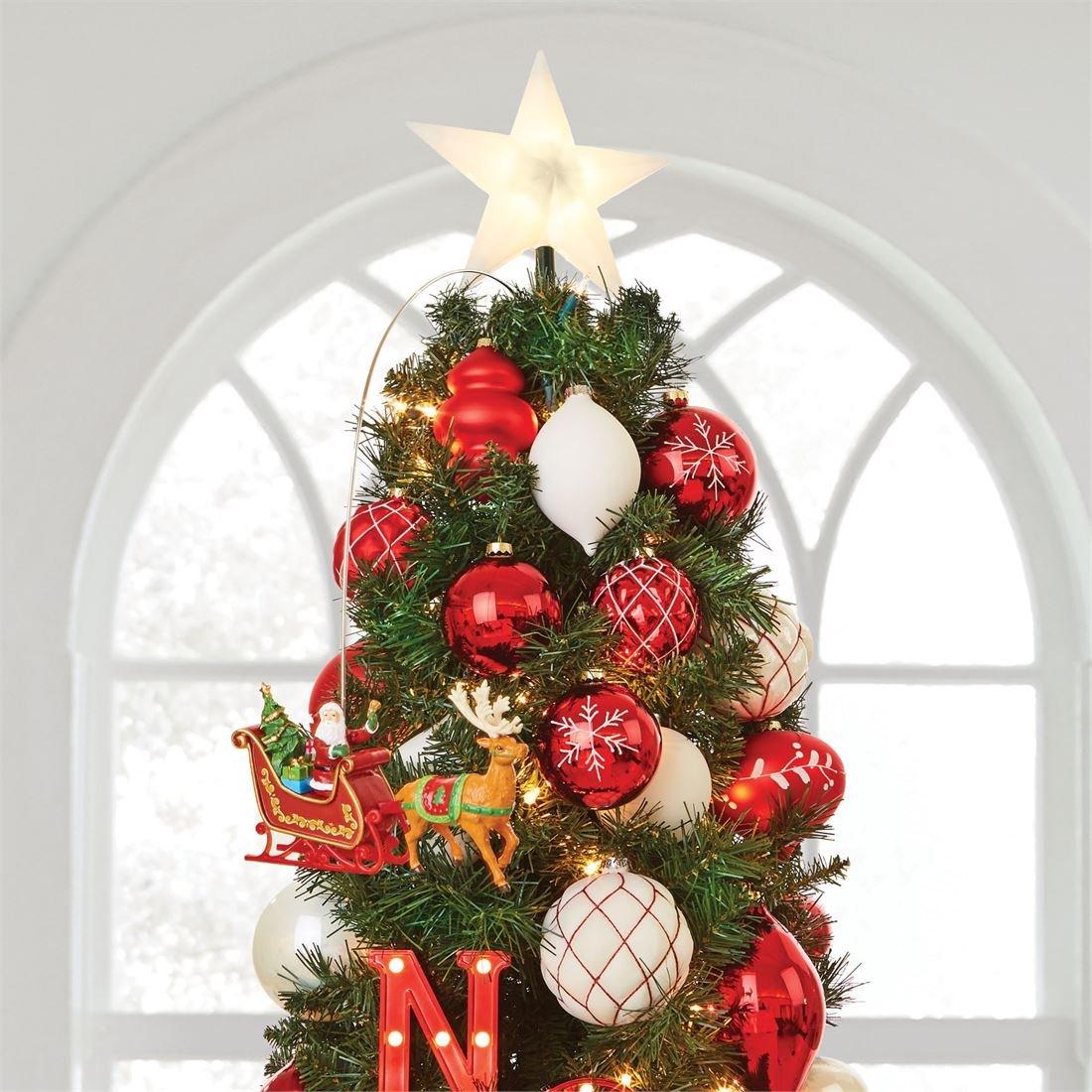 BrylaneHome Animated Santa Sleigh Tree Topper (Multi,0)