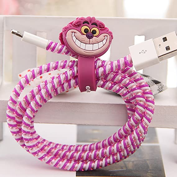Tospania DIY Cartoon Style Spiral Wire Protectors For Apple Lightning  Cables/Samsung And Other Tablet