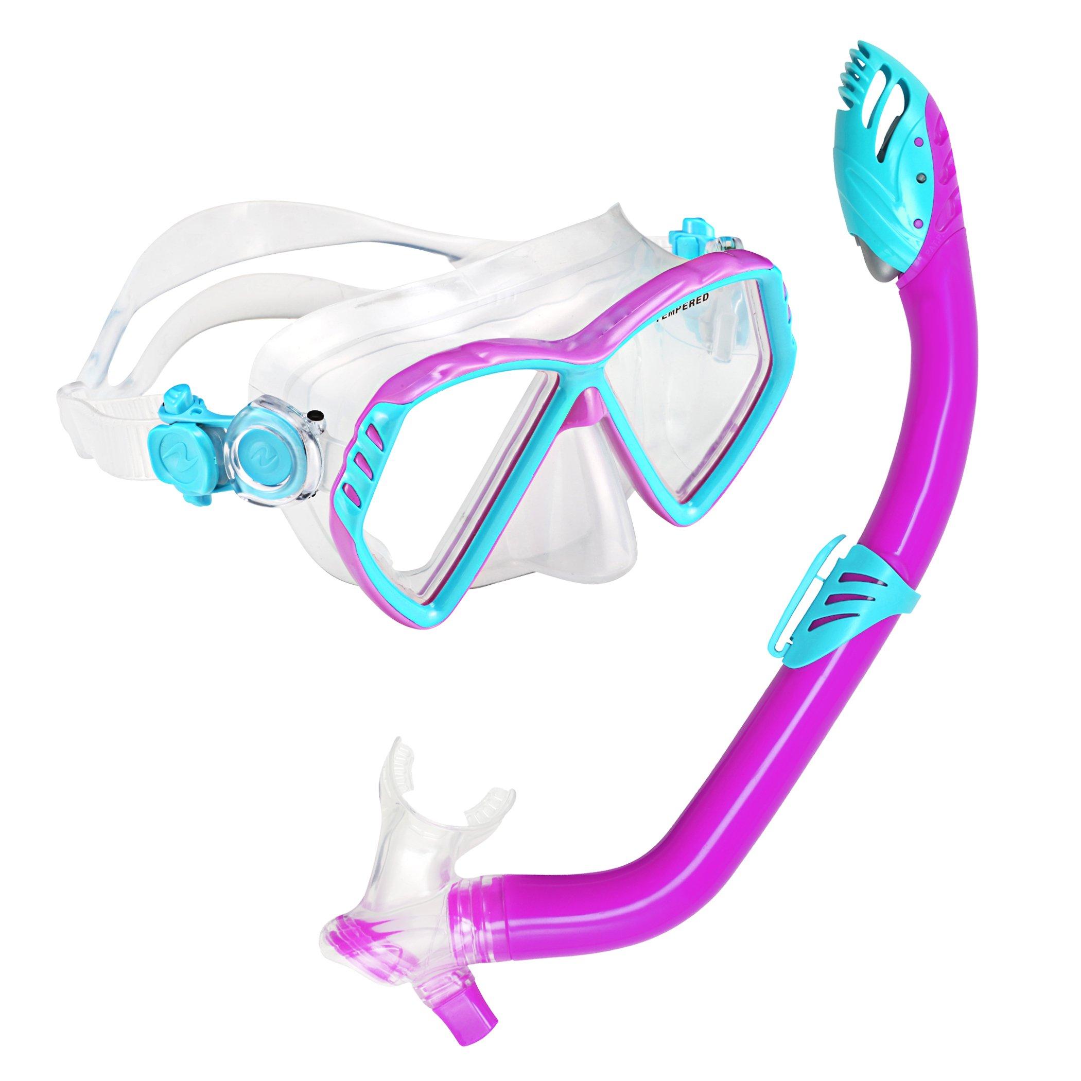 U.S. Divers Junior Regal Mask and Laguna Snorkel, Fun Purple by U.S. Divers