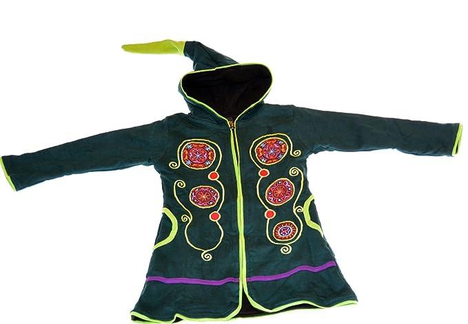 Niños hippie Chaqueta con capucha zipfel Goa PSY - Gnomo ...