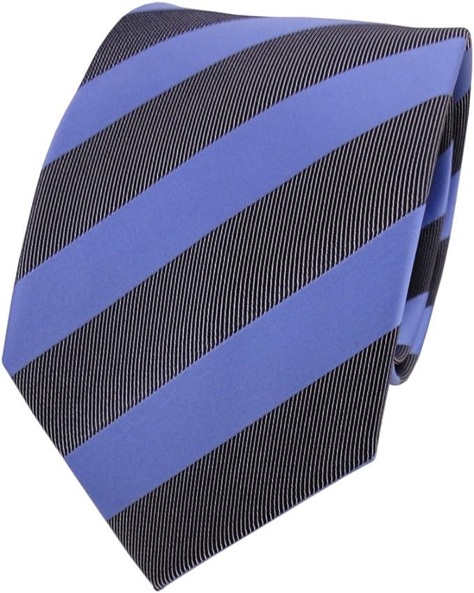 schmale TigerTie Krawatte Schlips in braun dunkelbraun anthrazit kariert 4,5 cm