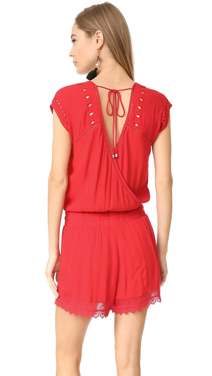 e2f8bb5ba2 Ella Moss Women's Broderie Anglaise Embroidered Romper, Tigerlily, M ...