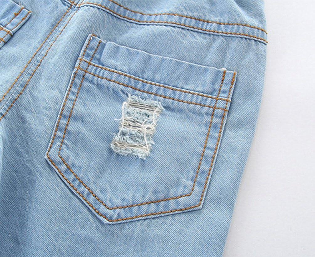 NiSeng Bambino Vita Elasticizzata Strappati Cowboy Pantaloncini Casual Denim Shorts Jeans Pantaloncini
