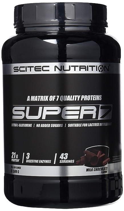 Scitec Nutrition Super 7 proteína chocolate con leche 1300 g ...