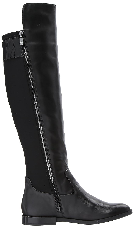 Calvin Klein Women's Priya Over The Knee Boot B073XBBFSQ 9 B(M) US|Black Leather/Stretch