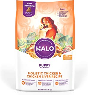 product image for Halo Natural Dry Dog Food, Puppy Chicken & Chicken Liver Recipe