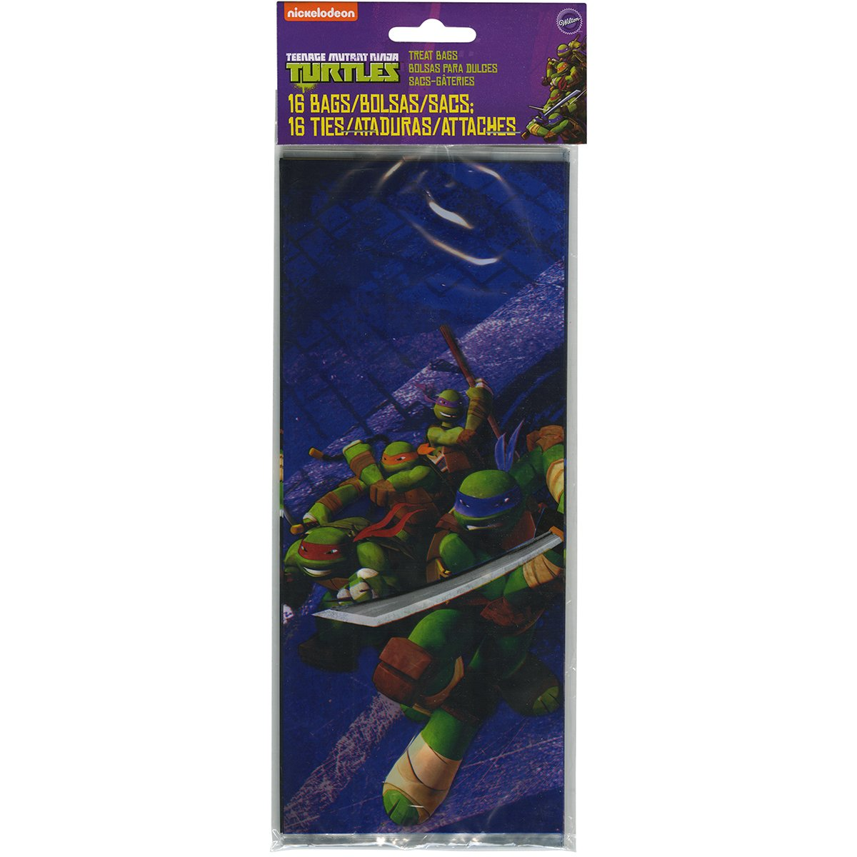 Wilton 1912-7744 16 Count Teenage Mutant Ninja Turtles Treat Bags