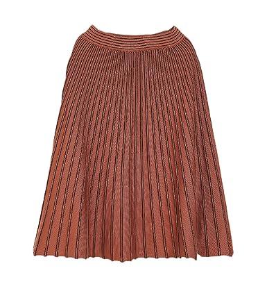 Mujer Faldas Midi Tallas Grandes Primavera Elegante Rayas Falda ...