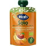 Hero Baby Solo Bolsita de Manzana, Plátano y Zanahoria Puré de Frutas Ecológico para Llevar para Bebés a partir de 4…