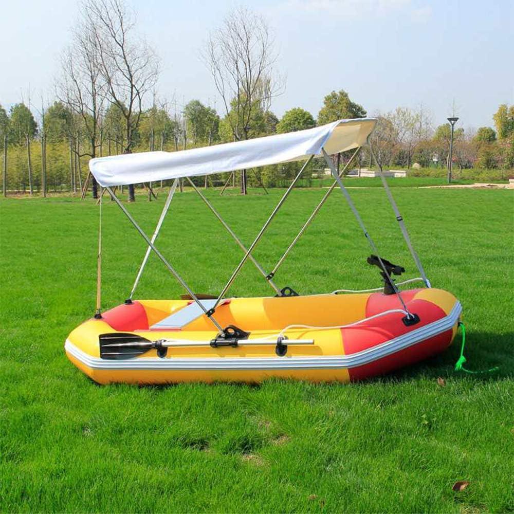 Kayak Markise Geeignet f/ür 2-Personen-Boot bewegliche Bimini-Top Canopy wasserdichte Sonnenschutz inklusive Installation Hardware TRF 3 Bow Bimini Persenning