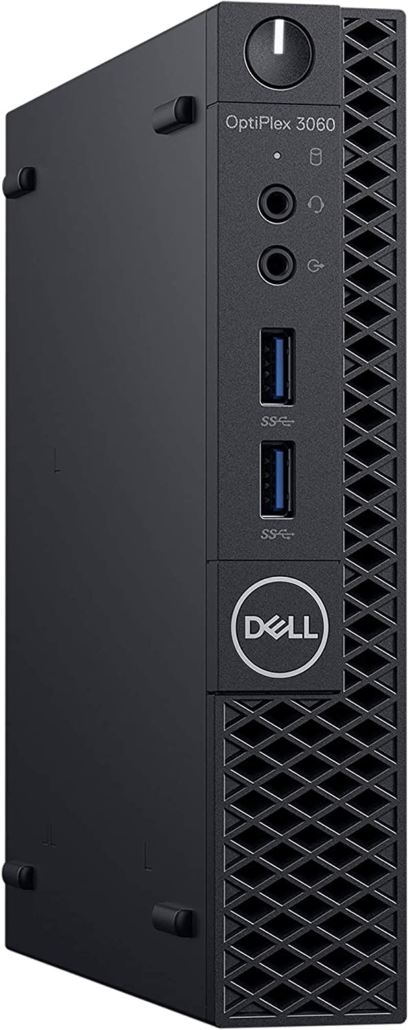 Dell OptiPlex 3060 Micro Desktop Computer with Intel Core i5-8500T 2.1 GHz Hexa-Core, 8GB RAM, 128GB SSD (R3C2H)