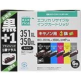 ecorica 佳能 ( Canon ) 支持循环墨盒6色套装 + 油黑色 - 351xl + 350xl / MP 油 + - 350xlpgbk 燃油喷射系统 - c351xl6p + BK
