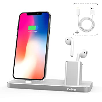 Belkertech Compatible/Repuesto para Airpods Base de Carga para iPhone AirPod Cargador Estación Airpods para iPhone X