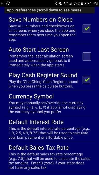 Auto Car Truck Rv Loan Payment Calculator Pro