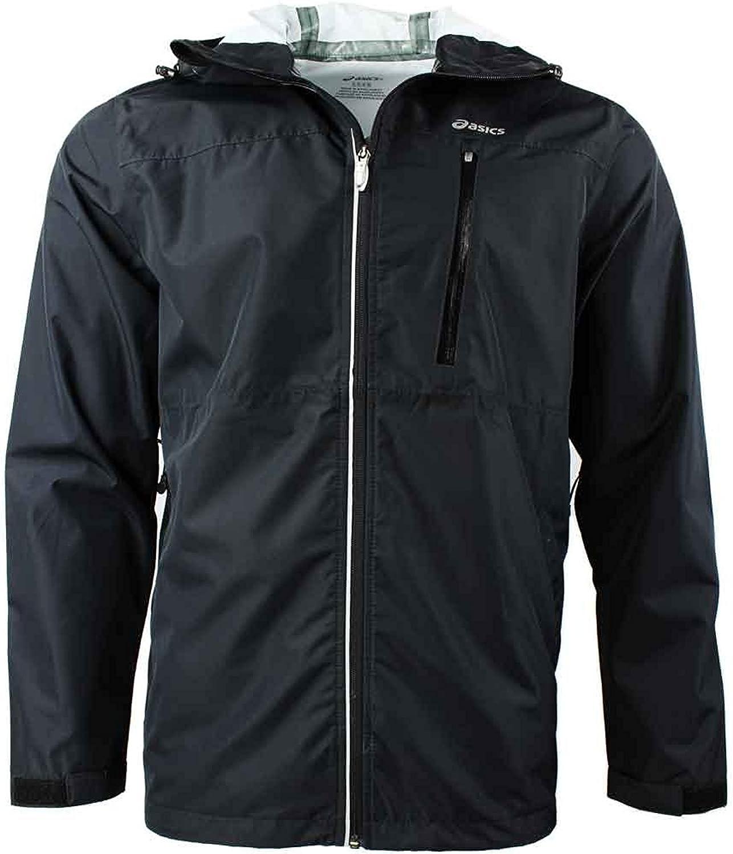 Asics Men's Waterproof Jacket - Black -: Amazon.co.uk: Clothing