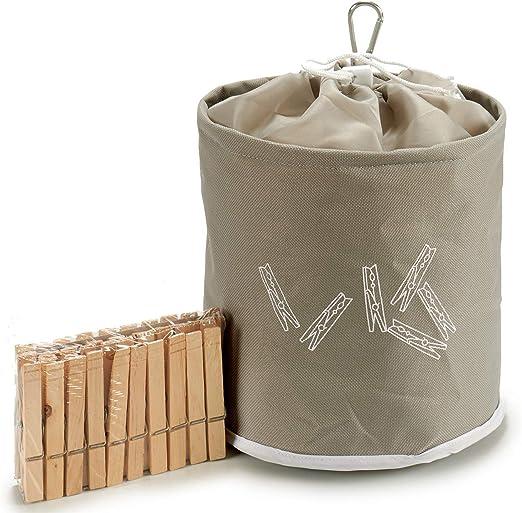 Marr/ón Oscuro Bolsa para Pinzas Impermeable Premium de Smith con Mosquetones de Metal para Colgarla