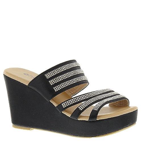 d2bbafd80a0 PATRIZIA Women s Halogen Slide Sandal Black  Amazon.ca  Shoes   Handbags