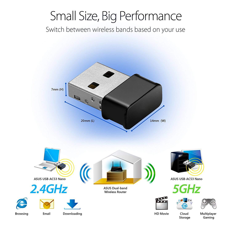 Mac OSX Maxesla Mini USB WiFi Adaptateur 1200Mbps Cl/é WiFi Dongle AC Dual Band WiFi Wireless Adaptateur Compatible avec Windows 7//8//8.1//10 Mac OS 10.7-10.12