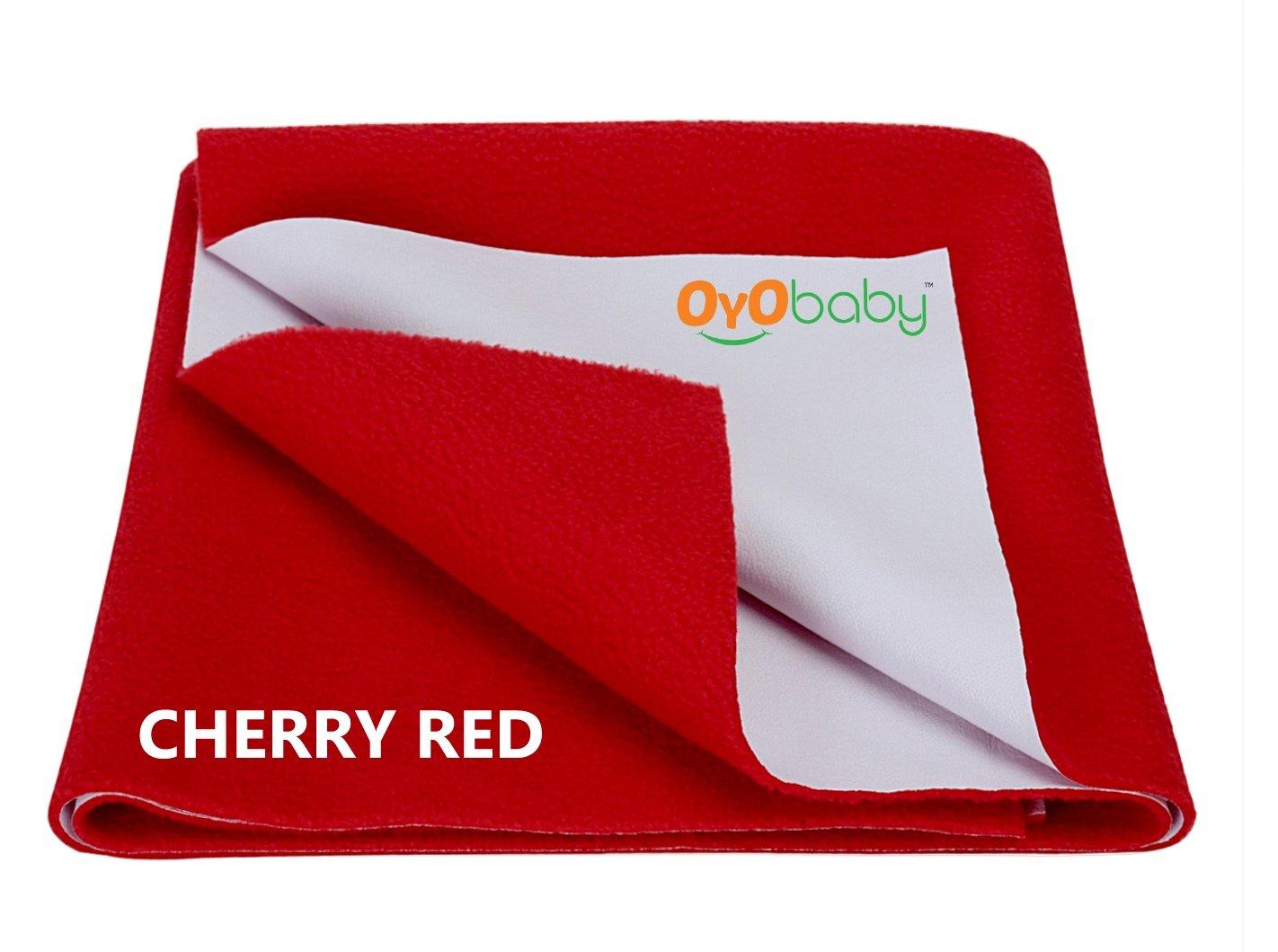 OYO BABY Waterproof Bed Protector Dry Sheet -Medium (Red)