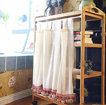 TINE HOME CURTAINS Romain Rideau Tulle Beige Gaze Café Rideau Cuisine Court  Rideau Semi Shade