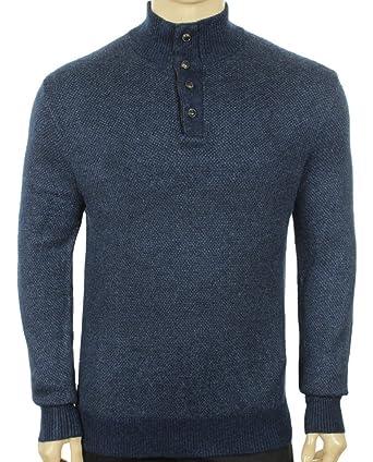 b850d31f6 Polo Ralph Lauren Mens Silk Knit Henley Sweater Navy XL at Amazon ...