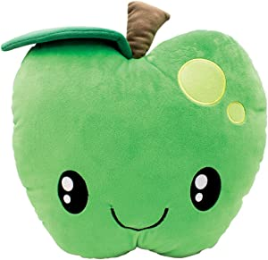 Scentco Smillows - Scented Stuffed Plush Accent Throw Pillow, Room Decor, Gift for Kids - Green Apple
