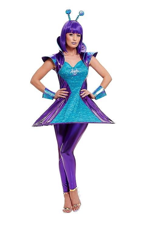 Smiffys 51041XS - Disfraz de mujer alienígena, multicolor, talla ...