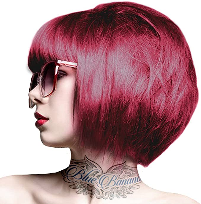 renbow Crazy Color Tinte De Pelo De semipermanente color crema – 2 x rojo rubí Rouge 100 ML