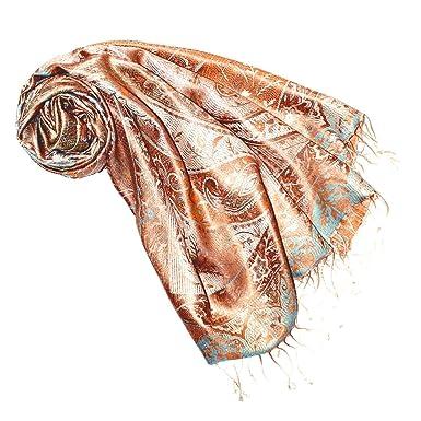 c2d4f4ecc11758 Lorenzo Cana Luxus Pashmina Schal Schaltuch jacquard gewebt 100% Seide  Paisley Muster Seidenschal Seidentuch Seidenpashmina