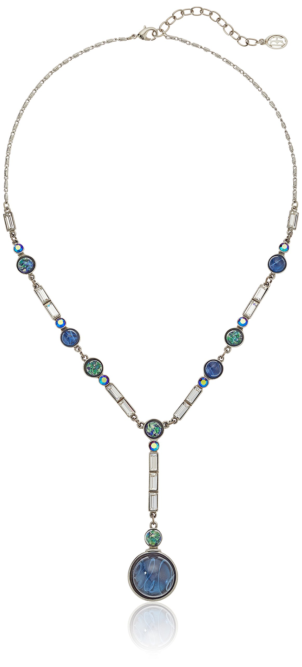 Ben-Amun Jewelry Eclipse Lunar Swarovski Crystal Y-Shaped Necklace