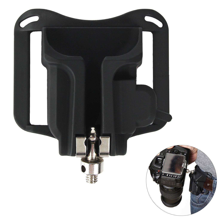 Camera Belt Clip Waist Belt Holster Holder Shoulder Strap Buckle Button,DSLR Camera Hanger Fast Loading for Sony/Canon/Nikon/Olympus/Fuji by Acecharming