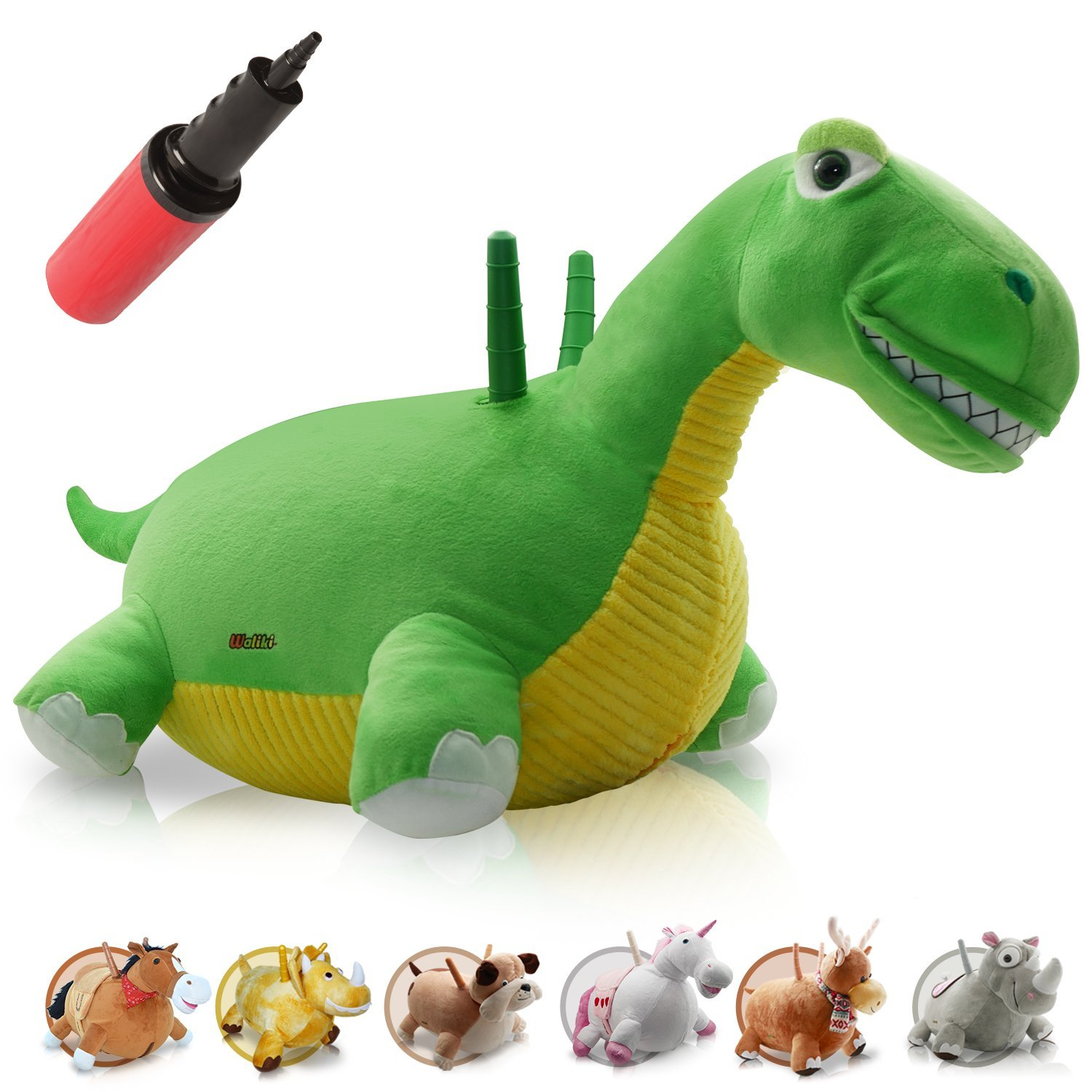 WALIKI TOYS Bouncy Horse Hopper Mr Jones (Hopping Horse, Inflatable Ride-On Pony, Ridding Horse For Kids, Jumping Horse, Pump Included) HDS-HORSE