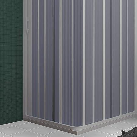 Cabina de Ducha en PVC 90x90CM H185 Plegable con Apertura Lateral Color Blanco Mod. Flex: Amazon.es: Hogar