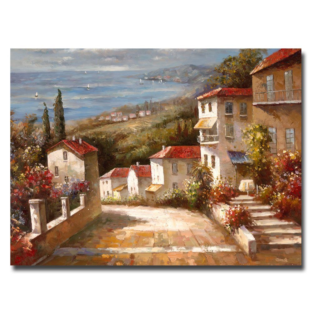 Amazon Trademark Art Home In Tuscany Canvas By Joval
