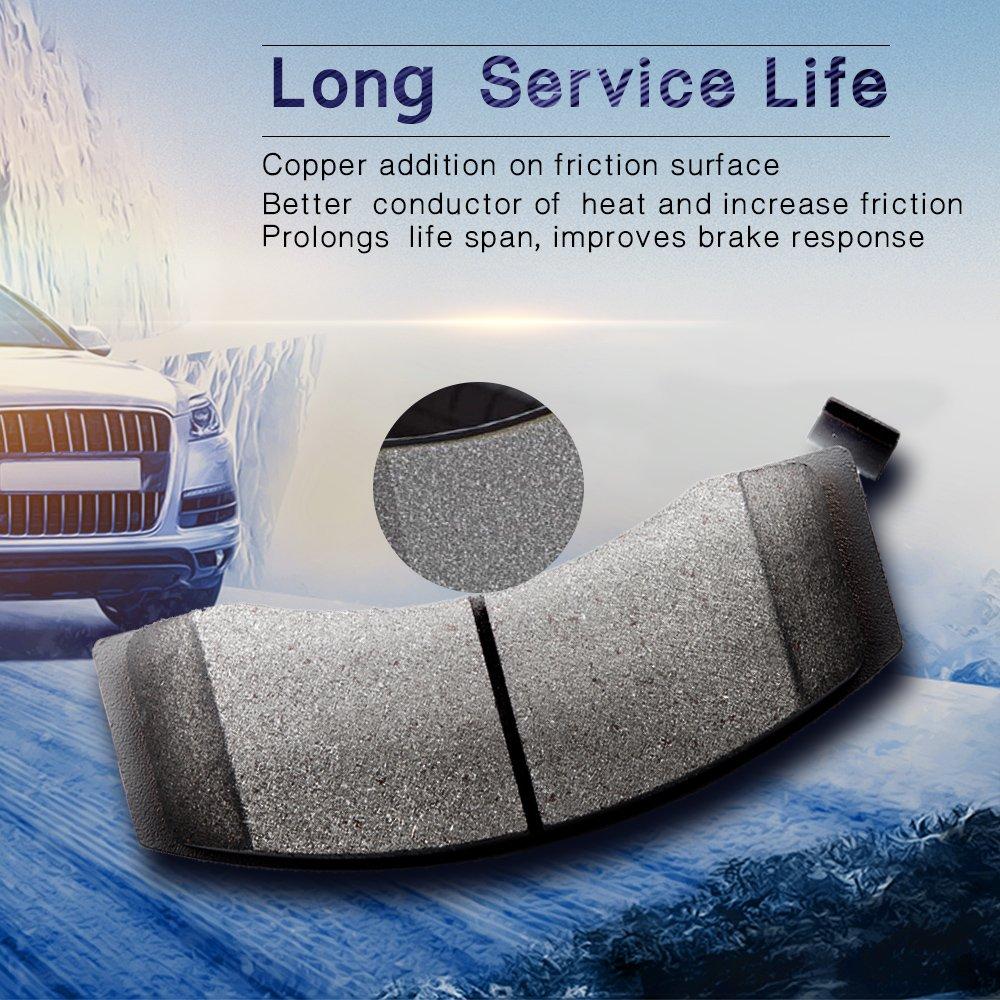 ECCPP 4pcs Ceramic Discs Brake Pads Front Kits for Lexus GS300 GS400 GS430 IS300 SC430 Toyota Supra 1993 1994 1995 1996 1997 1998 1999 2000 2001 2002 2003 2004 2005 2006 2007 2008 2009 2010 ATD619C 066555-5211-1549211