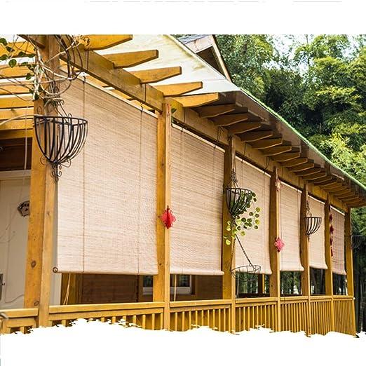 WENZHE Estores de Bambú Venecianas Persiana Enrollables Proteccion Solar Pantalla Hogar Sala de Te Decoración Levantamiento Estilo Retro, 2 Colores Talla Personalizable: Amazon.es: Hogar