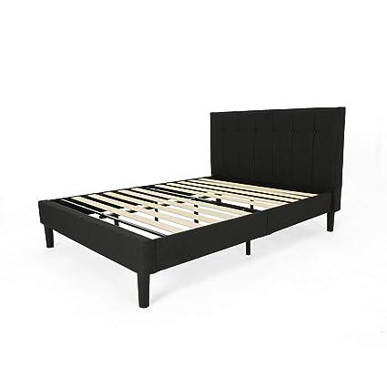 Amazoncom Yvonne Fully Upholstered Queen Size Platform Bed Frame