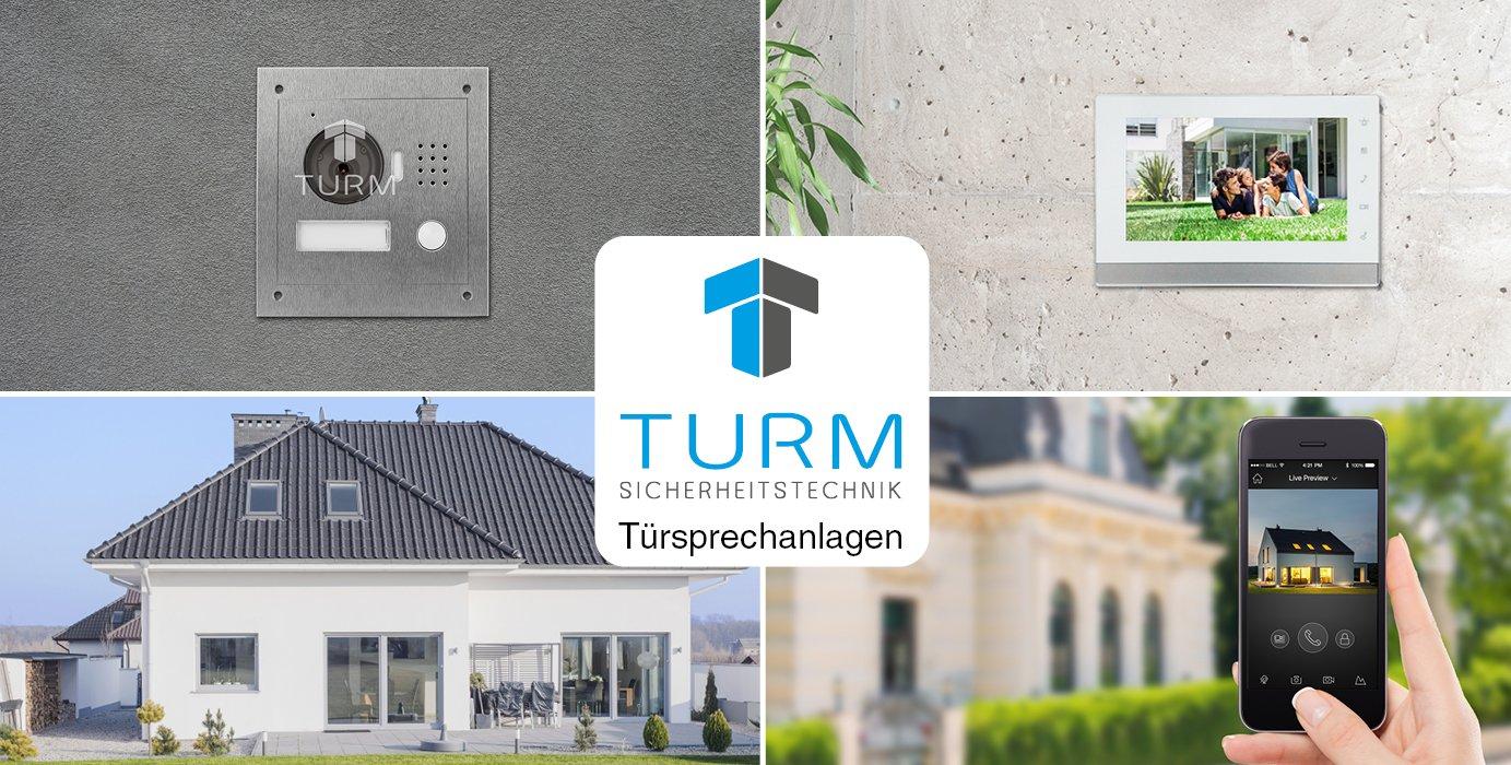 TURM IP Video Türsprechanlage 2-Draht Außenstation für Einfamilienhaus