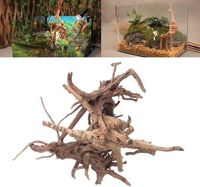Small Dairyshop Wood Natural Trunk Driftwood Tree Aquarium Fish Tank Plant Stump Ornament Decor
