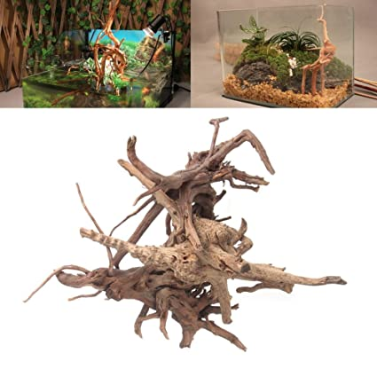 225 & Yumian Fish Tank Wood Decorations - Wood Natural Trunk Driftwood Tree Aquarium Fish Tank Plant Stump Ornament Decor - 1 pcs Aquarium decoration for ...