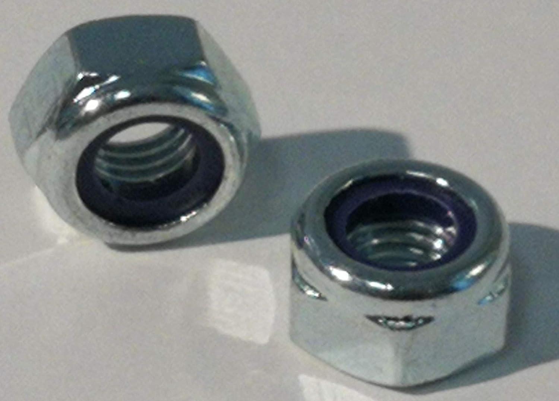 acier galvanis/é 10 pi/èces de contre-/écrou DIN 985 acier galvanis/é, M6