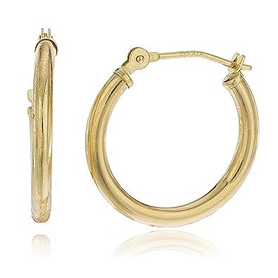b80ffbd2ce697 14k Yellow Gold 2mm Basic Hoop Earrings (0Z-OG98-YE1L)