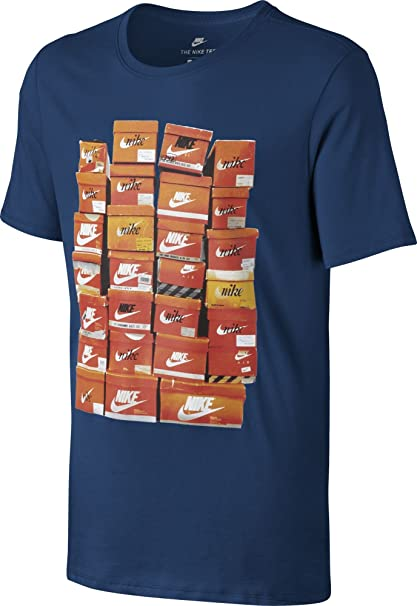 Nike M NSW tee Vintage Shoebox Camiseta de Manga Corta, Hombre, Azul Binary Blue