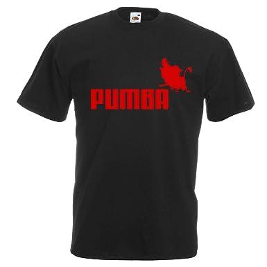 74d3fa65 Mens Black Pumba Sports Brand Spoof T-Shirt Funny Lion King TShirt:  Amazon.co.uk: Clothing
