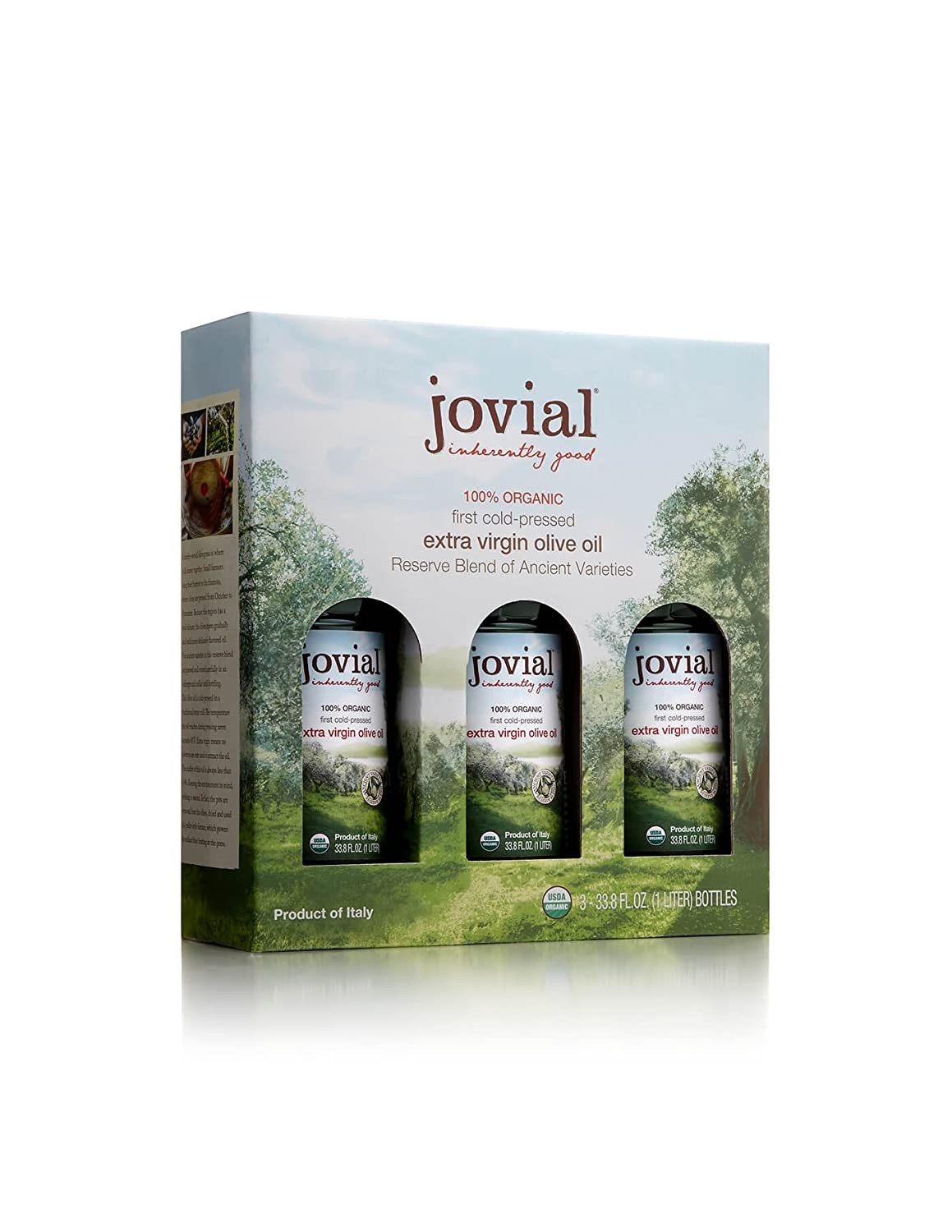Amazon.com : Jovial Organic Extra Virgin Olive Oil - 3 Pack : Grocery &  Gourmet Food