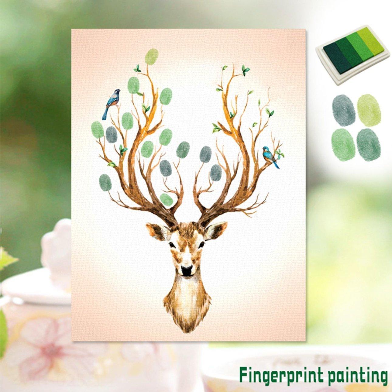 Ballylelly Kreative Selbstklebende Fingerabdrucke Malerei Anmelden