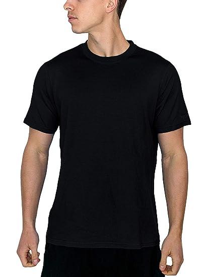 dae63216 Woolx Mens Outback Short Sleeve Breathable, Moisture Wicking Merino Wool T- Shirt, Black