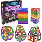 Desire Deluxe Magnetic Blocks – Building Tiles Montessori Toys Preschool Construction Set Magnets for Kids – Learning Toddler